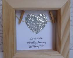 10th wedding anniversary gifts stunning tin wedding anniversary gifts contemporary styles ideas