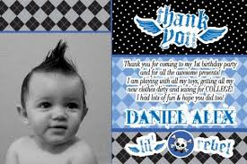 first birthday thank you cards u2013 gangcraft net