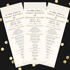 deco wedding program deco scallop wedding program 4x11 diy printable program