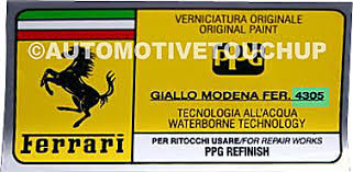 ferrari paint code locations touch up paint automotivetouchup