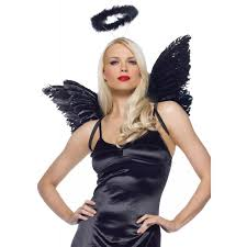 heaven hell angel accessory kit halloween costume halo feather