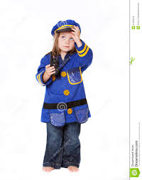 little in police costume royalty free stock images image