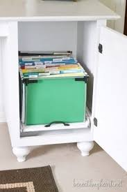 Diy File Cabinet Desk Best 25 Diy File Cabinet Ideas On Pinterest File Cabinet Desk