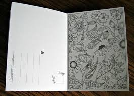 secret garden colouring book postcards pretty valentines to make give paperblog