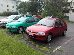 my peugeot 106 xn 1996 red and neighbours 106 mistral green