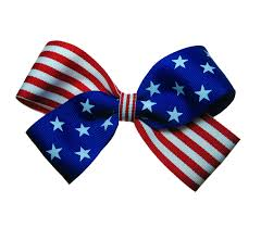 white and blue bows 4th of july usa flag patriotic large hair bow in white and