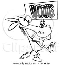 clipart outlined opposing democratic donkey republican