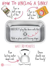 How To Unclog A Kitchen Sink Simple Remedies For Clogged Drains Sinks Baking Soda And Vinegar