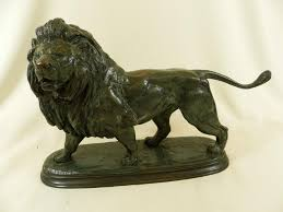 antique bronze lion bronze statue of lion by paul édouard delabrierre 1829 1912