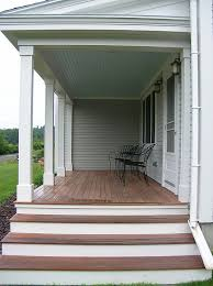 collection in back porch stairs design back porch designs deck