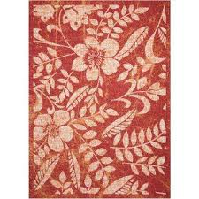 Floral Outdoor Rug Red Floral Outdoor Rugs Rugs The Home Depot
