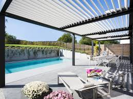 Pergola With Movable Louvers by Aluminium Pergolas Archiproducts