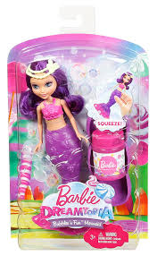 amazon com barbie dreamtopia bubbles u0027n fun mermaid purple doll