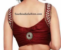 blouse pics stylish pearl embellished blouse south india fashion