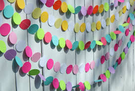 outstanding birthday decoration with paper fans for inexpensive