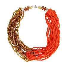 orange beaded necklace images Gee aay multi layer beaded choker necklace gold orange jumia ghana jpg