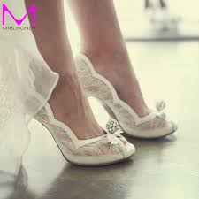 wedding shoes peep toe white lace peep toe wedding shoes rhinestone luxurious high