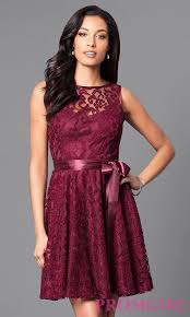 sleeveless cheap short lace party dress promgirl