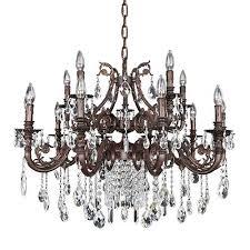 15 Light Chandelier Antique Silver Crystal Chandelier Bellacor