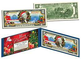 merry colorized 2 bill u s tender