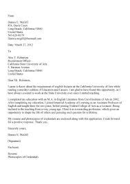 cover letter teaching university position regarding sample for