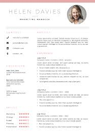 Resume Pages Template Fully Editable Resume Cv Template In Ms Word 2 Page Template 2