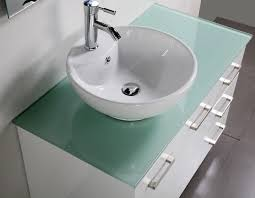 Glass Top Vanity Bathroom by Perfect Glass Bathroom Vanity Units About Interior Home Designing