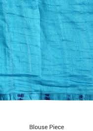 peacock blue saree adorn in batik print and kardana work
