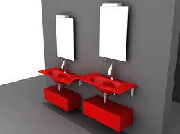 Red Bathroom Cabinets Modern Red Bathroom Vanity 3d Model 3d Studio 3ds Max Autocad