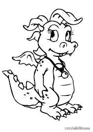 dragon coloring pages hellokids