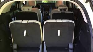 Ford Explorer Cargo Space - 2016 ford explorer platinum stowing third row seats youtube