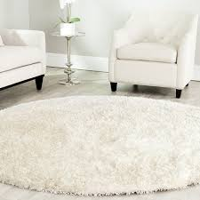 White Shaggy Rugs Round Shaggy Rugs Roselawnlutheran