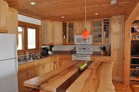 wood island kitchen live edge tables furniture tree green team collingwood ontario