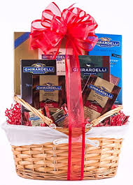 chocolate gift basket grand ghirardelli chocolate gift basket gourmet