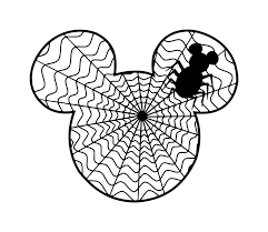 halloween disney shirts personalized spiderweb mickey diy iron on decal 7 00 via etsy
