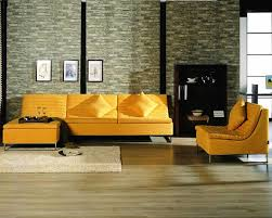 living room luxury yellow tufted leather sofa eye catching