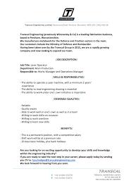 Resume Sample Machine Operator by Cnc Operator Resume