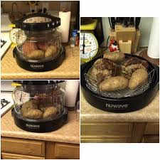 nuwave oven meatloaf and baked potatoes use your favorite