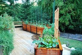 deck garden planter boxes decorating a deck with plants deck