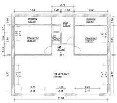 plan de maison 4 chambres avec age maison 9m facade