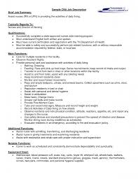 summary for resume example cna job description for resume for seeking assistant nurses certified