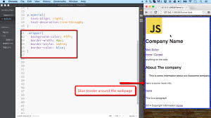 Css Table Border Color Css Adding Borders To Elements Ilovecoding