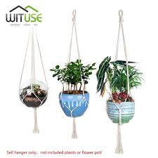 plant wall hangers indoor wituse 4pcs simple knitted plant hanger hooks flower pots holder