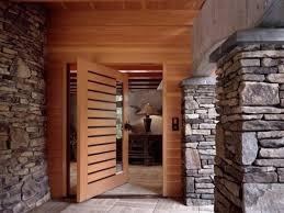 Slab Exterior Door Modern House Front Door Wood Glass Slabs House Entrance