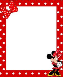 minnie mouse frame clipart clipartxtras