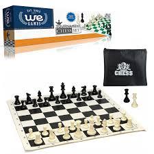 Amazon Chess Set Amazon Com We Games Tournament Chess Set U2013 Heavy Weighted Chess