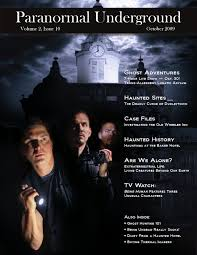 october 2009 paranormal underground by paranormal underground