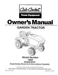 cub cadet lawn mower 1862 user guide manualsonline com