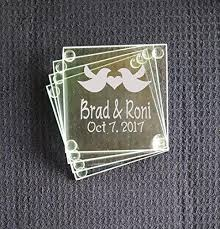 wedding favor coasters wedding favor coasters personalized birds add