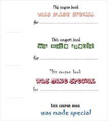 coupon book template christmas gift idea homemade coupon book